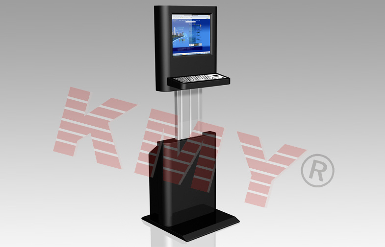 Height Adjustable LCD Display Information Checking Kiosk with Keyboard