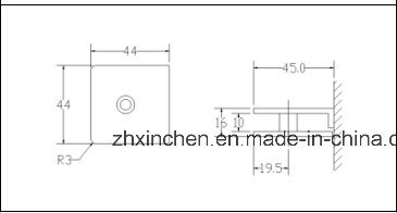Xc-FC90t-2 Bathroom Fixed Clamp of Stainless Steel Material