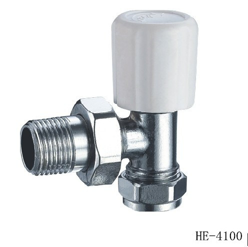 (HE4100--HE4102) Radiator Valve with Zinc, Aluminum or Plastic Handle for Water