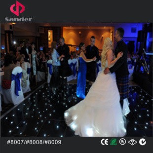 Wireless Black Acrylic LED Dance Floor for Wedding Party