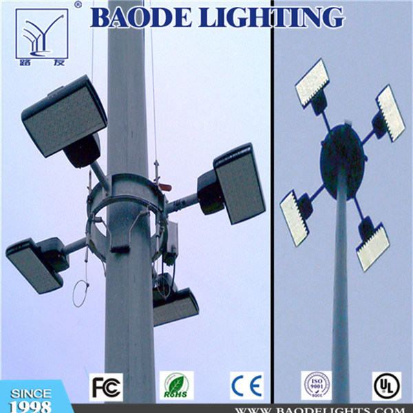 25m High Mast Street Lighting Pole with LED Lamp