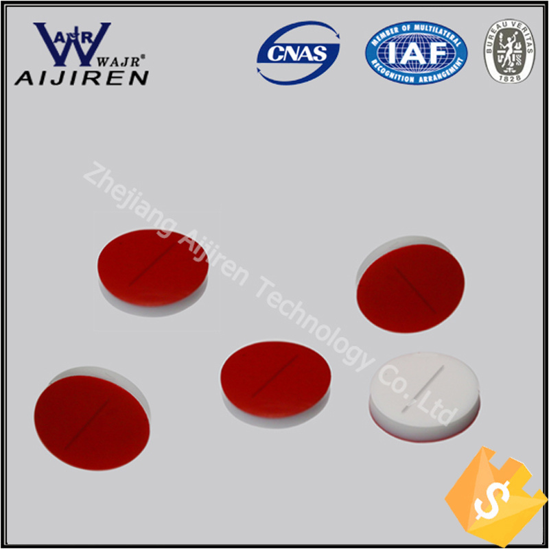 8*1.5mm Pre-Slit White PTFE/Red Silicone Septa Used for 8-425 HPLC Analysis Clear Vial Chromatography Sample Vial