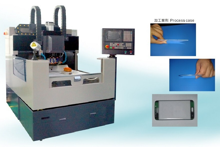 Rcg503_CV Shape Grinding and Inner-Hole Processing CNC Machine for Bent Glass Engraving