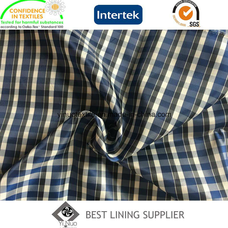 Fashion Check Patterned Men′s Jacket Lining China Manufacturer