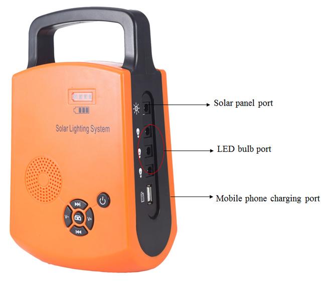 4W Portable Solar PV Panel Power Energy Lighting Kit