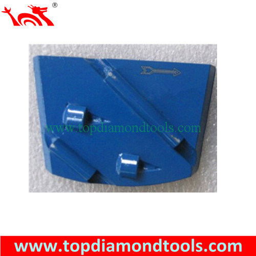 PCD Trapezoid Epoxy Removing Diamond Metal Plate