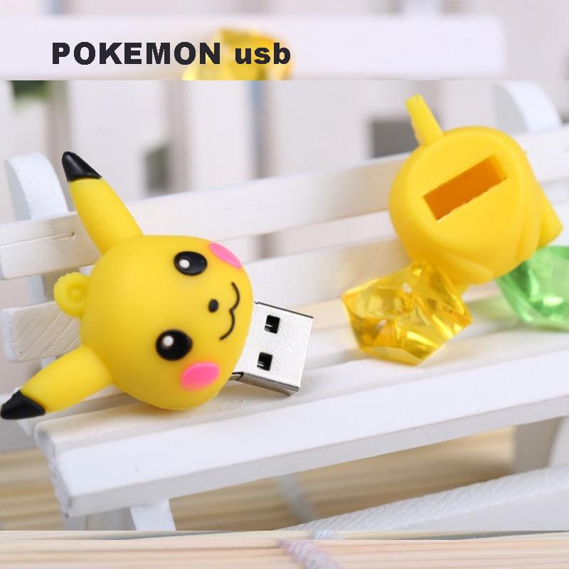 Pokemon Design Carton USB Flash Pendrive 8GB, 16GB, 32GB, 64GB for Choose