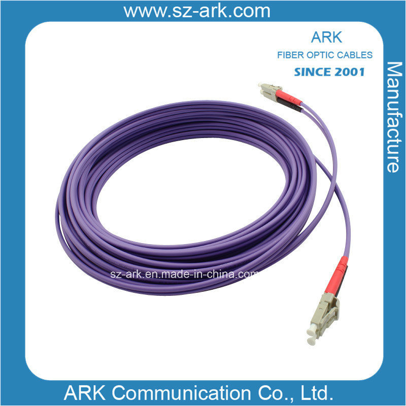 LC-LC Fiber Optic Patch Cord with Om4 Cable