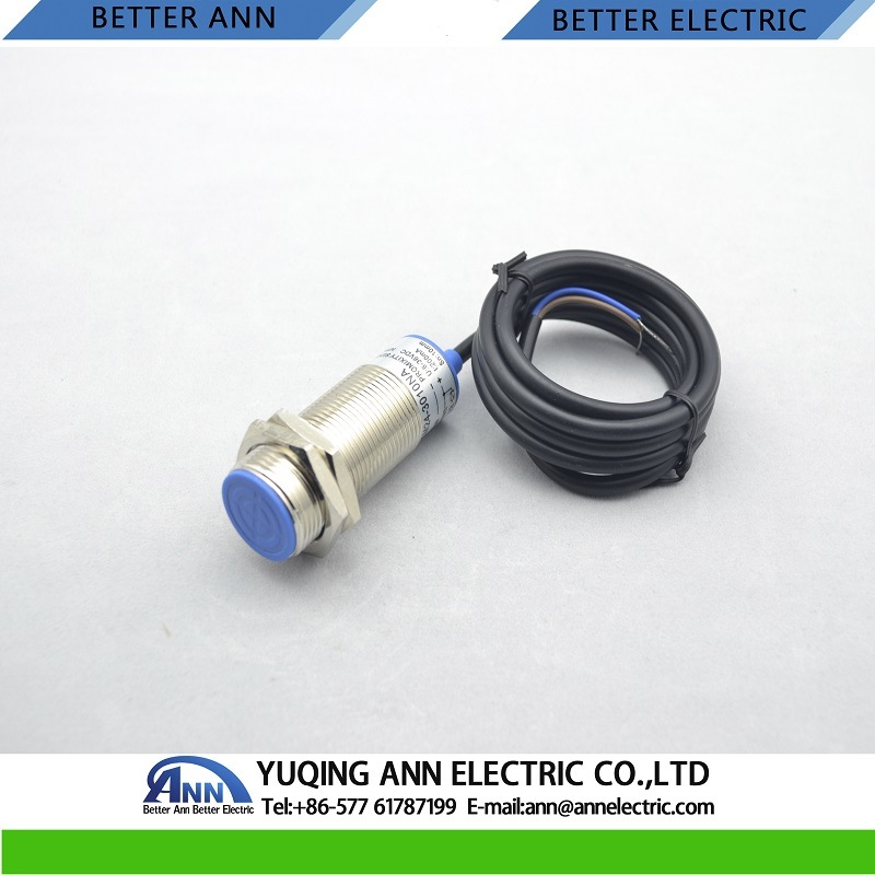 Lm24 Cylinder Type Output Inductive Proximity Switch 2 Wires No+Nc Metal Waterproof Sensor