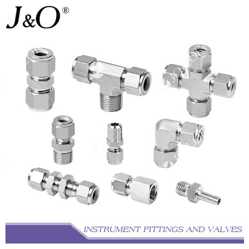 Stainless Steel Compression Double Ferrule Tube Pipe Fitting