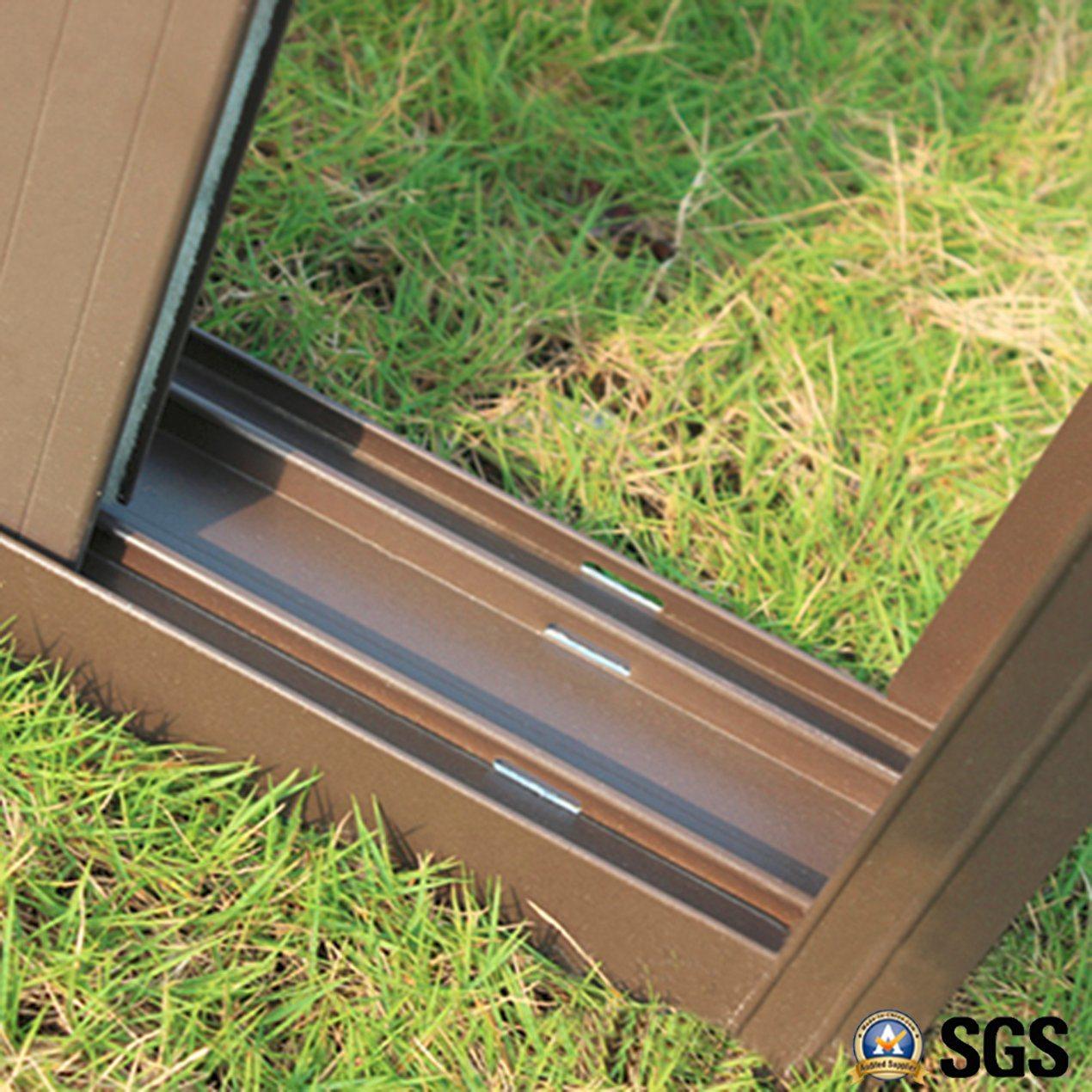 Powder Coated Aluminium Sliding Window with Fix, Latch Lock, Aluminum Sliding Window K01009