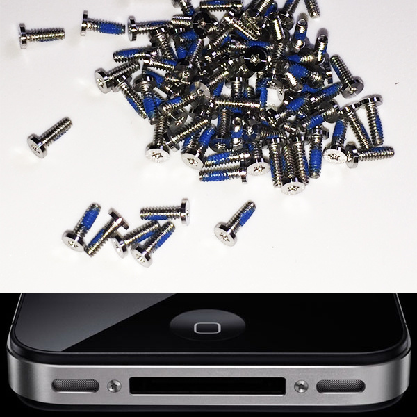 100% Original Replacement Mobile Cellphone Spareparts Bottom Screws for Apple iPhone4 and 4s