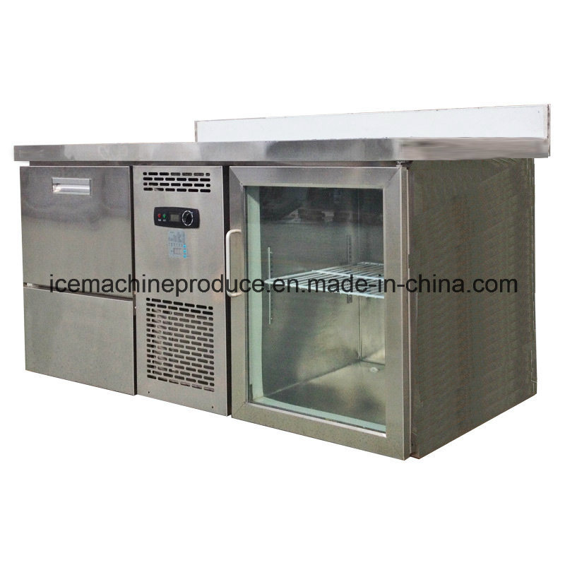 80kgs Combined Type Cube Ice Machine & Freezer