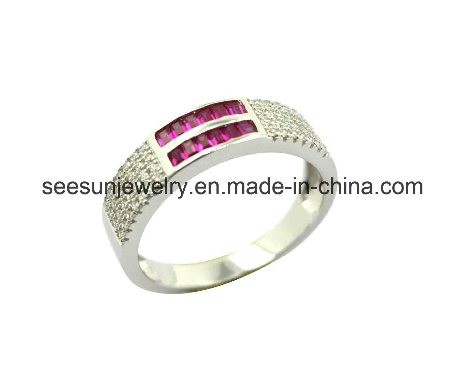 925 Sterling Silver Jewelry Band Ring Eternity Ring