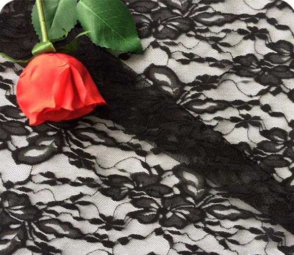 90% Nylon + 10% Spandex Heavy Lace Fabric