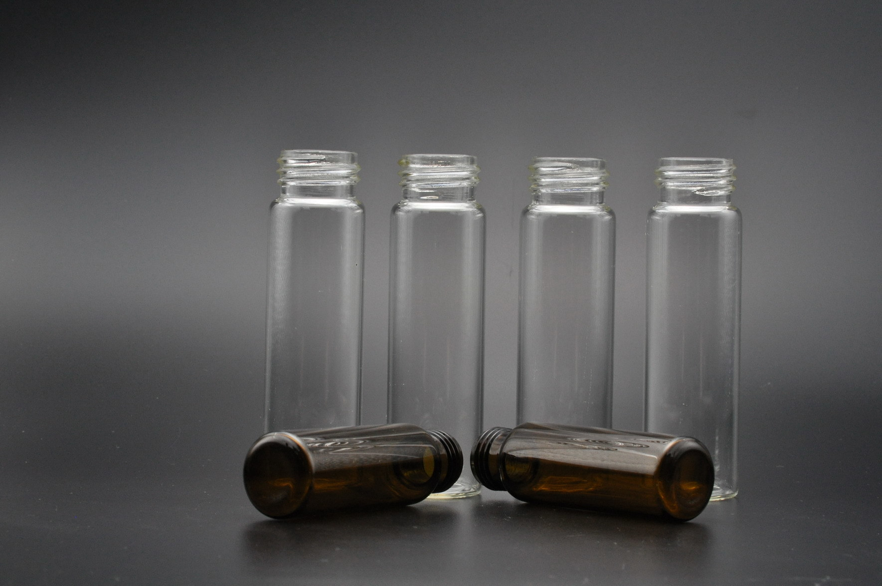 40ml Clear and Amber EPA Glass Vials for Water Test