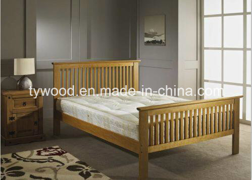 New Shaker Style White Wooden Bed Frame Quality Double 4FT6 Wood Classic Modern Bed