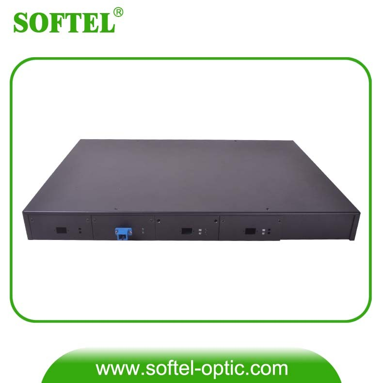 "FTTH 1u 19"" 4ge Uplink and 4 Downlink Pon Ports 1.25gbps Optical Line Terminal (OLT-4PON)"