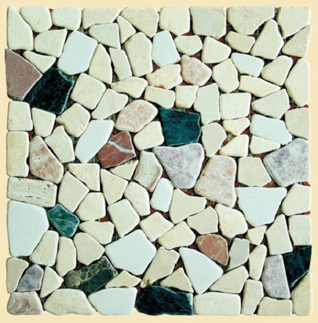 Percorso di pietre rotte del modello di mosaico for Modello di layout del pavimento