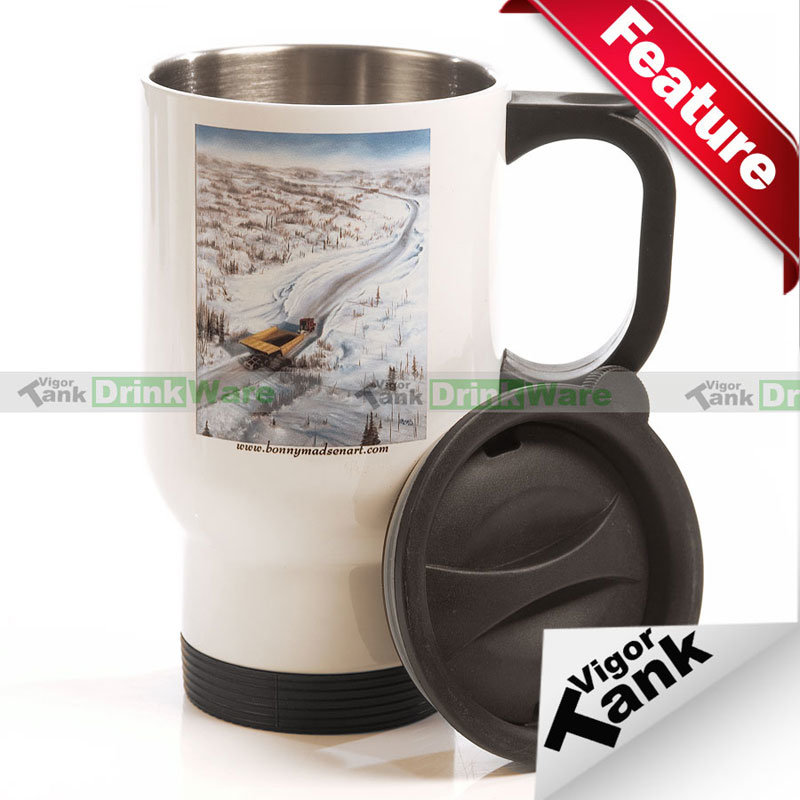 China 11oz Heat Press Plain White Coated Blank Mug White