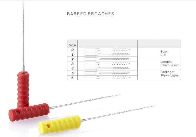 Disposable 21mm & 25mm Barbed Broaches (Hand)