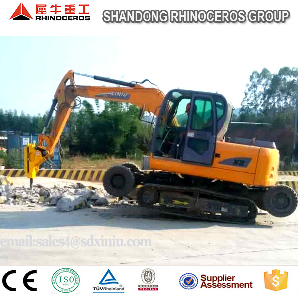 8t Hydraulic Excavator for Sale, 0.3cbm Bucket Wheel Excavator