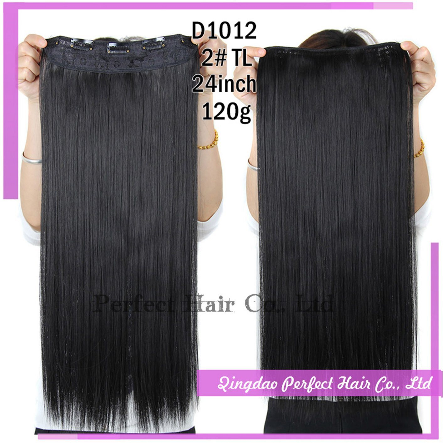 Clip in Human Hair Extensions Jet Black