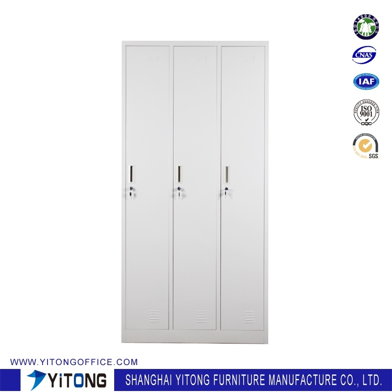 Yitong 3-Door Metal Storage Cabinet / Office Use Steel Locker