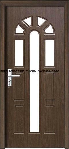 Economical Interior Wooden Rounded MDF PVC Door (EI-P089)