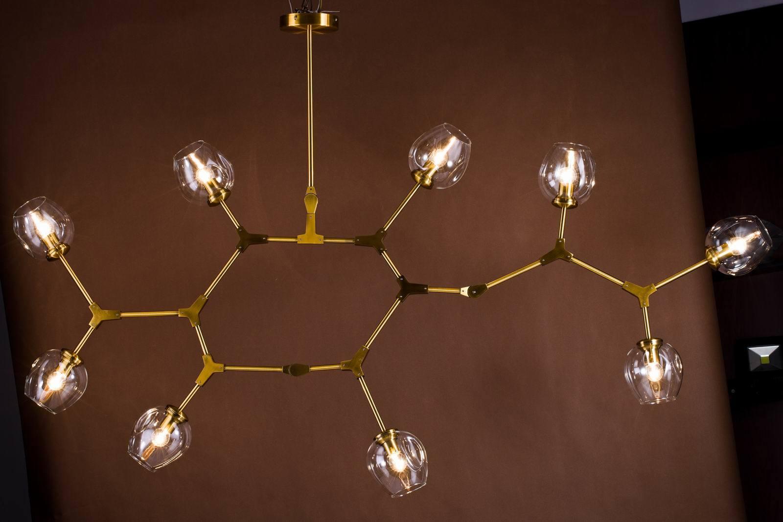 Modern Glass Chandelier Lamp (WHG-180)