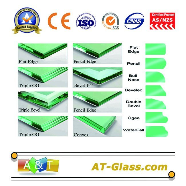 3-19mm Clear Tempered Glass/Toughened Glass Used for Building, Furniture, etc