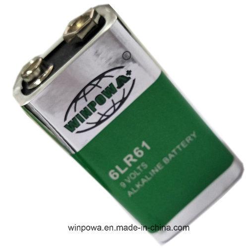 Alkaline Square 480mAh 9V Battery (6LR61)