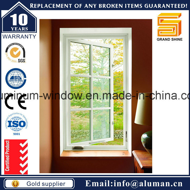 2017 Top Rank Powder Coating White Aluminum Casement Window