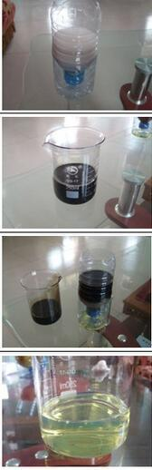 Decolor Dark Waste Oil to Light Yellow Oil Purification