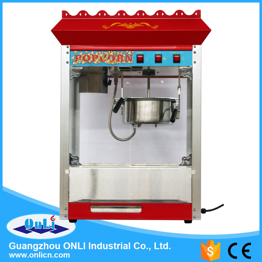 Hot Sale Electric Commercial Kettle Caramel 8 Oz Popporn Maker Popcorn Making Machine with Cart Wholesale Price