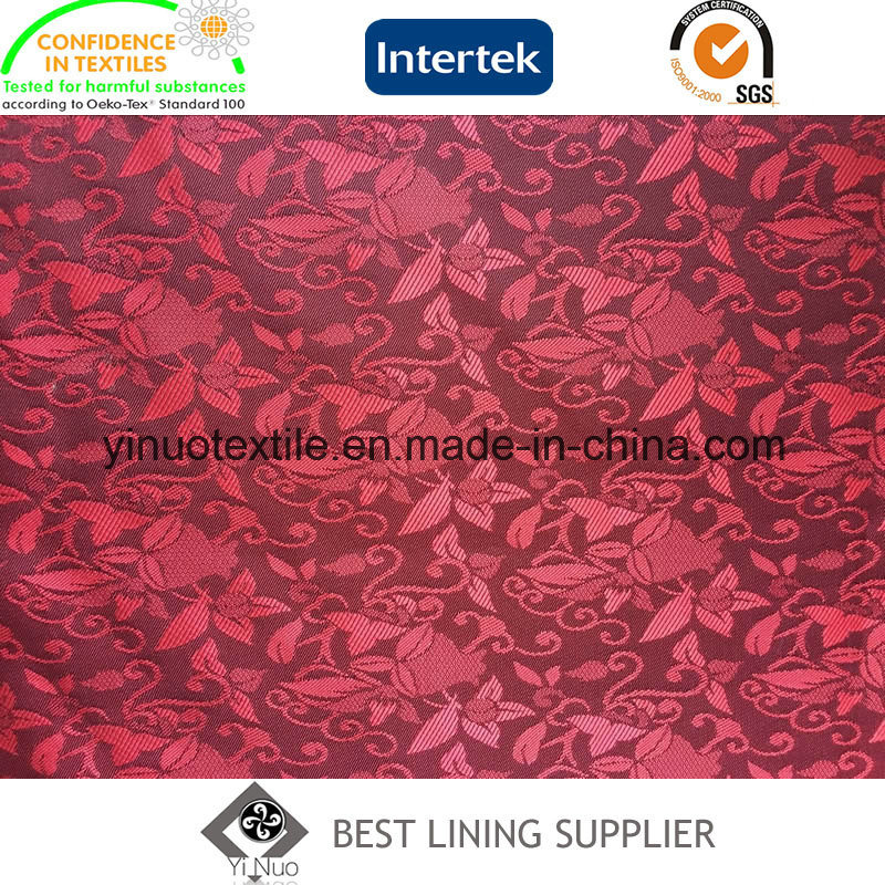 Beautiful Jacquard Men′s Suit Lining Fabric Factory