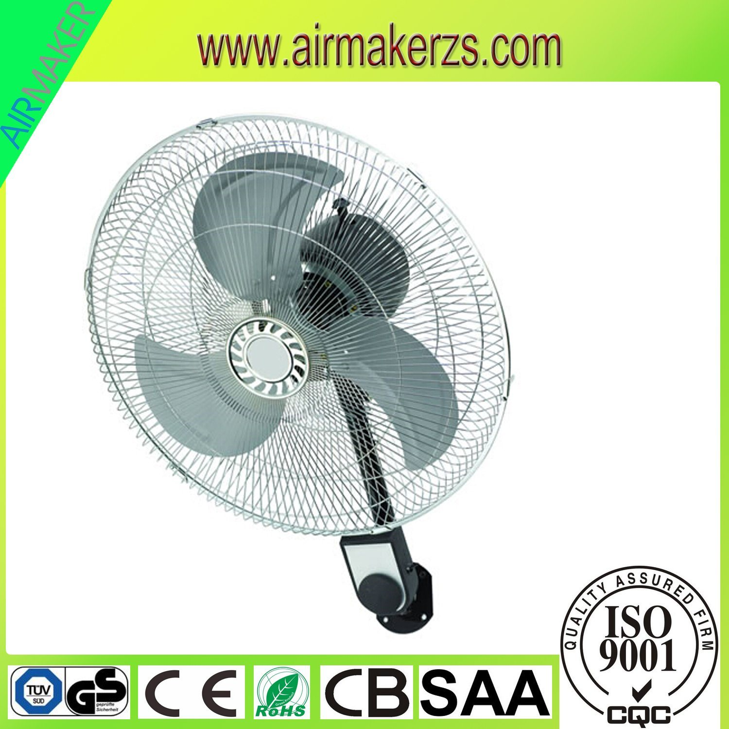 2017 News Plastic Body 16 Inch Wall Mount Oscillating Fan