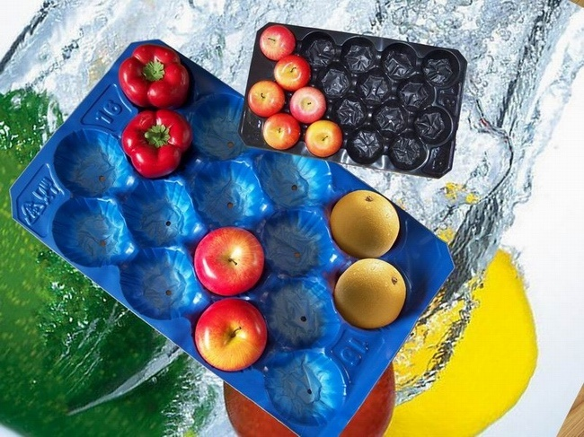 Popular Sale Poland 39X59cm PP Plastic Apple Tray for Fruit and Vegetable Packaging