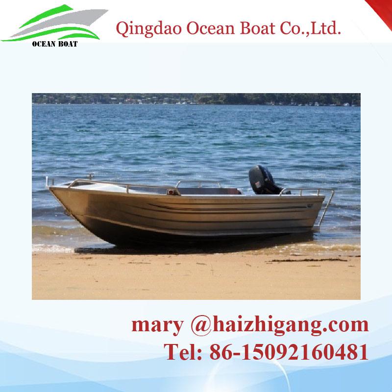 4.5m 15FT Tenvi Basic Aluminum Boat Small Craft Fisherman Motor Boat with Ce