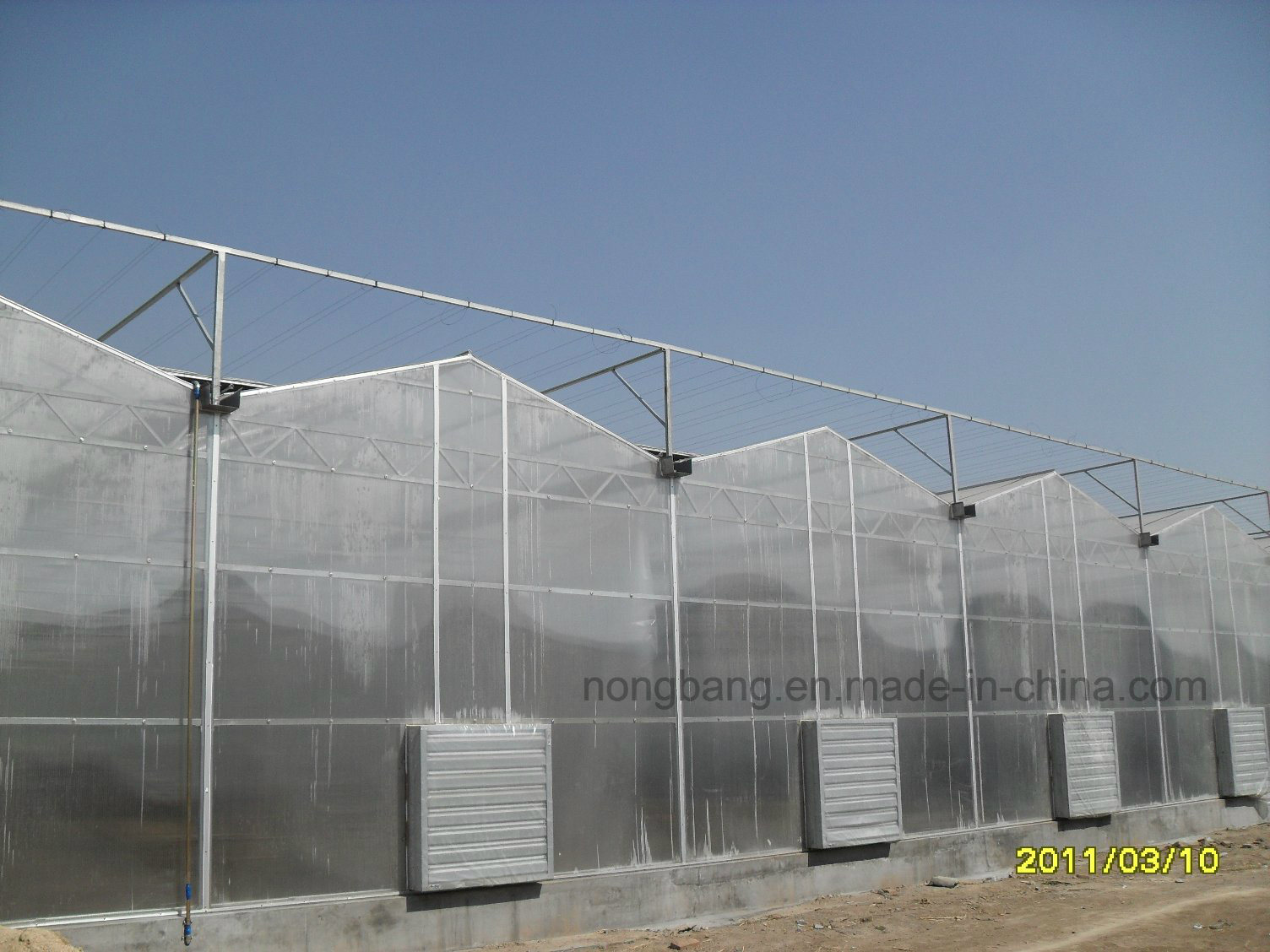 Cheap Agricluture Multi Span Glass Garden Greenhouse
