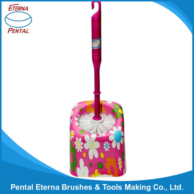Colorful Plastic Toliet Brush with Holder