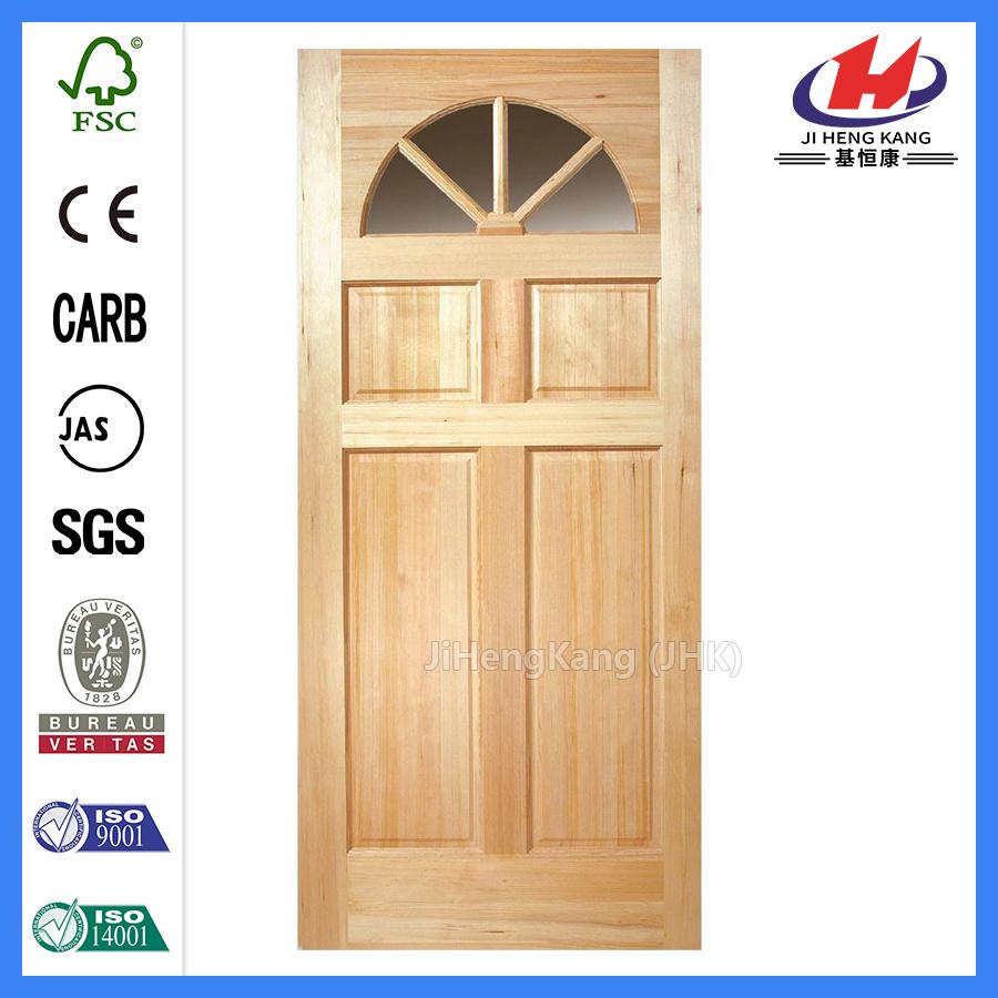 China Assurance Style Interior Wooden Glass Pine Door