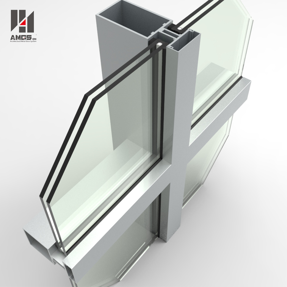 Double Low-E Exterior Building Glass Walls Panels Hidden Frame Glass Curtain Wall