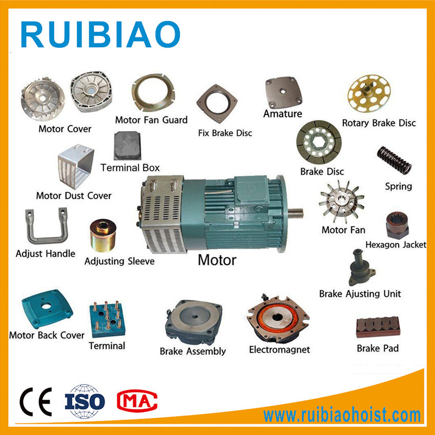 DC Electrical Motor with Gearbox for Passenger Construction Hoist Elevator