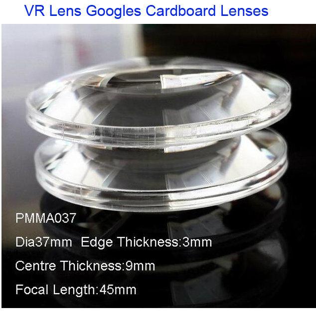37mm Google Cardboard Lens for Google Cardboard V2.0 Vr Box