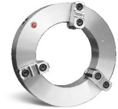 Large Thru-Hole 3-Jaw Self-Centering Chucks, Steel Body