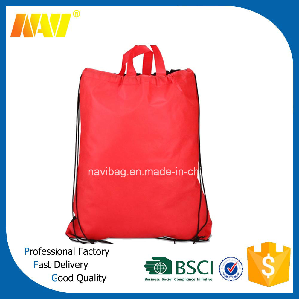 Cheap Price 210d Plain Drawstring Bag with Handle