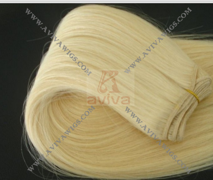 100% Remy Human Hair Weft Hair Extension (AV-HE011)