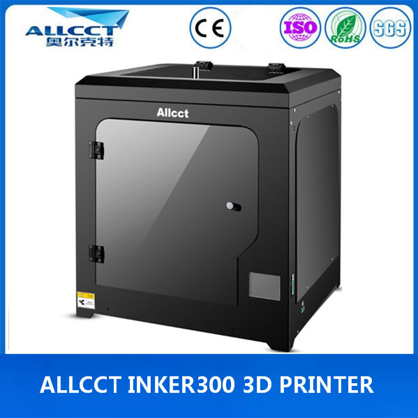 LCD-Touch 300X300X300mm Building Size 0.05mm Precision Whole Sealing 3D Printer
