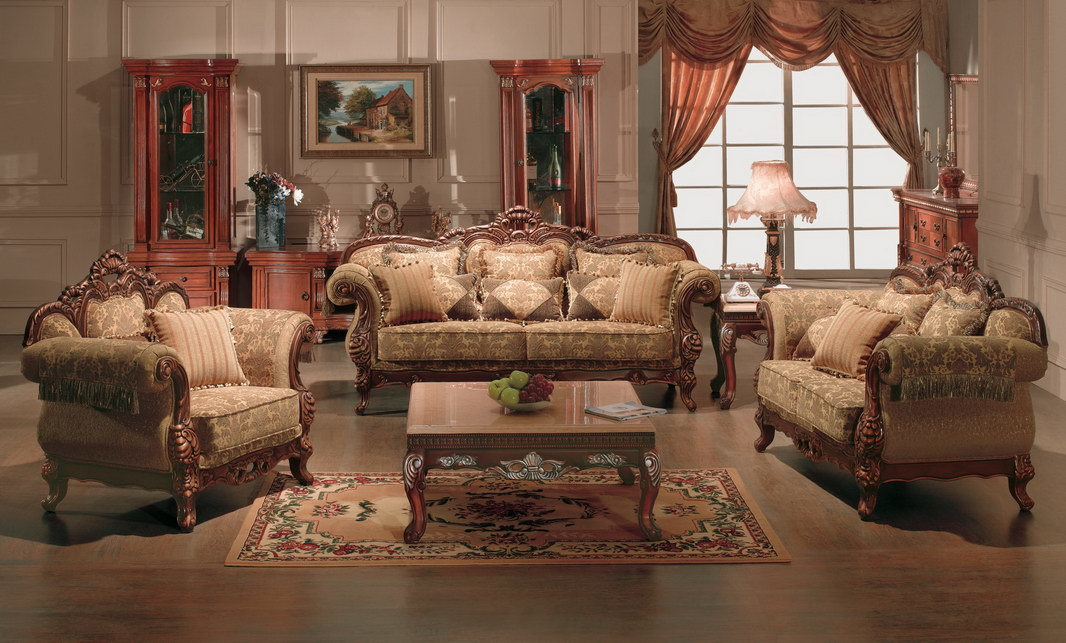 Living Room Furniture Sofa Set  4052    China Classic Sofa Antique